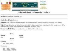 Mixing Primary - Secondary colors Lesson Plan