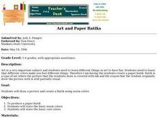 Art and Paper Batiks Lesson Plan