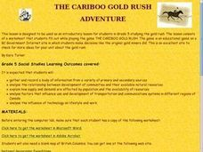 Cariboo Gold Rush Adventure Lesson Plan