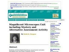 Magnificent Microscopes Unit Including Mystery and Alternative Assessment Activity Lesson Plan