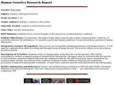 Human Genetics Research Report Lesson Plan