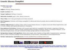 Genetic Disease Pamphlet Lesson Plan