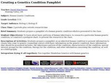 Creating a Genetics Condition Pamphlet Lesson Plan