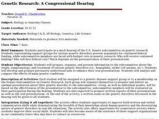 Genetic Research: A Congressional Hearing Lesson Plan