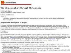 The Elements of Art Through Photography Lesson Plan
