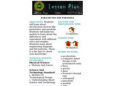 Parachutes And Parafoils Lesson Plan