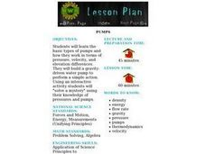 Pumps Lesson Plan