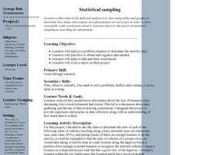 Statistical Sampling Lesson Plan