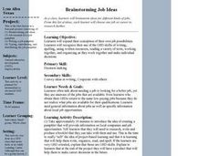 Brainstorming Job Ideas Lesson Plan