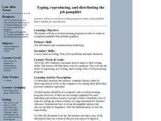 Typing, Reproducing and Distributing the Job Pamphlet Lesson Plan