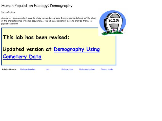 Human Population Ecology: Demography Lesson Plan