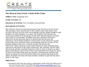 The Diary of Anne Frank-Clash of the Clans Lesson Plan