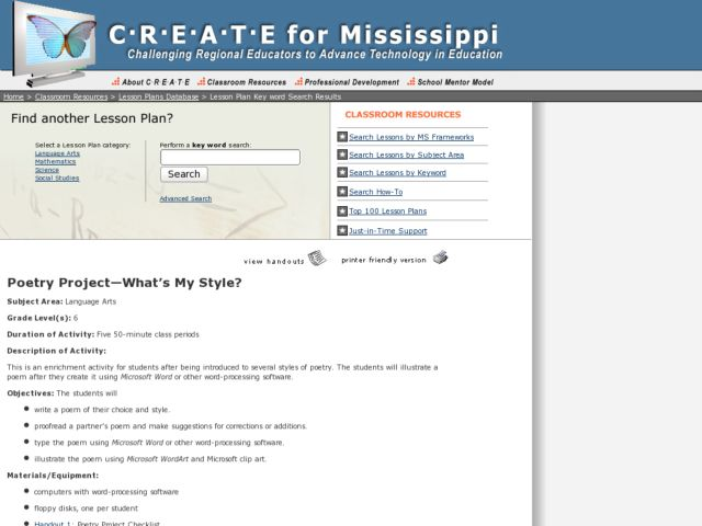 Poetry Project - What's My Style? Activities & Project