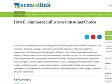 How E-Commerce Influences Consumer Choice Lesson Plan
