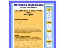 Using the News in Class Lesson Plan