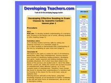 Developing Effective Reading in Exams Lesson Plan