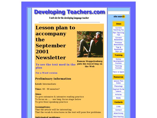 Hitching a World-Wide Ride on Web Lesson Plan