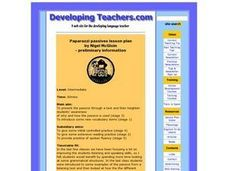 Paparazzi Passives Lesson Plan Lesson Plan