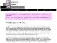 Moral Development and Gender Lesson Plan