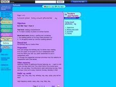 Long Vowel Phoneme - ay Lesson Plan