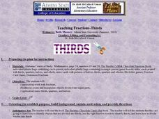 Teaching Fractions-Thirds Lesson Plan