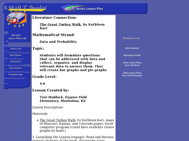The Great Turkey Walk Lesson Plan