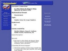 """Is a Blue Whale the Biggest Thing There Is?"" by Robert Wells Lesson Plan"