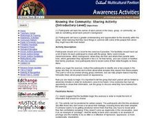 Knowing the Community: Sharing Activity Lesson Plan