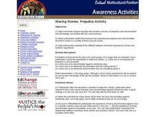 Sharing Stories: Prejudice Activity Activities & Project