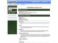 Hanging Mobile Christmas Trees Lesson Plan