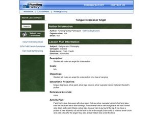 Tongue Depressor Angel Lesson Plan