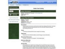 Online Card Catalog Lesson Plan