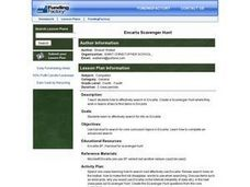 Encarta Scavenger Hunt Lesson Plan