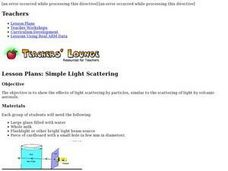 Simple Light Scattering Lesson Plan