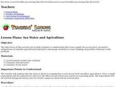 Sea Water and Agriculture Lesson Plan