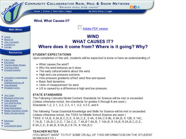 Wind, What Causes It? Lesson Plan