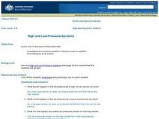 High and Low Pressure Systems Lesson Plan