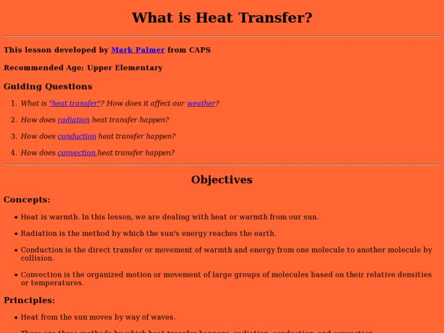 What is Heat Transfer? Lesson Plan