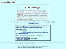 Energy: The Universal Currency Lesson Plan