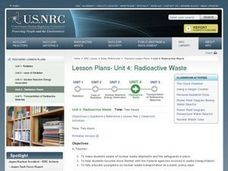 Radioactive Waste Lesson Plan