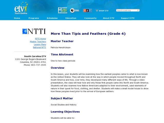 More Than Tipis and Feathers Lesson Plan