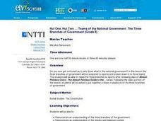 Hut One, Hut Two ... Teams of the National Government: The Three Branches of Government Lesson Plan