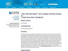 """The Tell-Tale Heart""- It's a Matter of Point of View Lesson Plan"