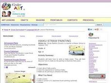 Haiku Straw Painting Lesson Plan
