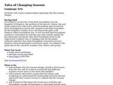 Tales of Changing Seasons Lesson Plan