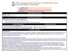 2001 Championship Learning, A World Class Menu Lesson Plan