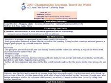 2001 Championship Learning, Travel the World Lesson Plan