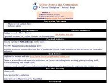 Arthur Across the Curriculum Lesson Plan