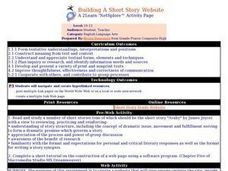 Building A Short Story Website Lesson Plan