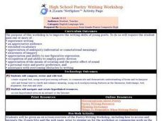 High School Poetry Writing Workshop Lesson Plan
